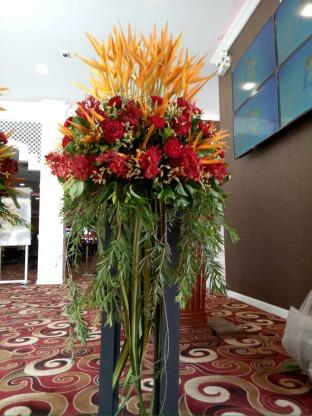 จัดดอกไม้ล็อบบี้โรงแรม จันทบุรี